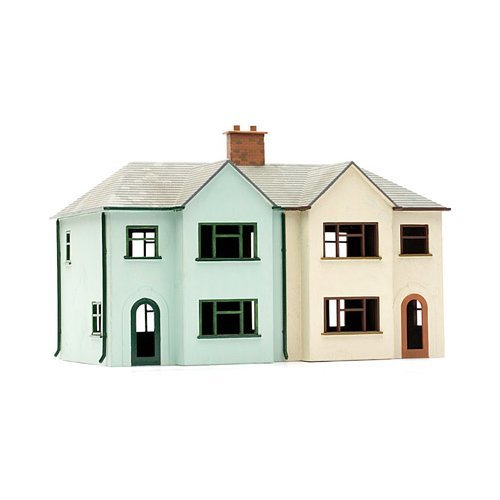 OO Building plastic kit Pair of Semi-Detached Houses - Dapol Kitmaster C057