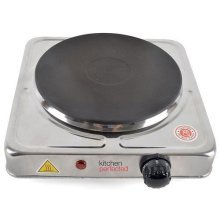 Lloytron E4103SS Kitchen Perfected Single Hotplate, 1500 W, Brushed Steel