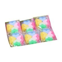 Luminous Jelly Erasers, Cute Award Gift, 4 Count Per Pack, 30 Pack, Heart Eraser