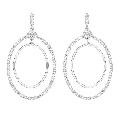Swarovski Gilberte Hoop Pierced Earrings - White - 5279777