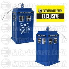 Doctor Who Bad Wolf TARDIS Christmas Tree Ornament with Sound