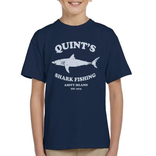Quints Shark Fishing Amity Island Jaws Kid's T-Shirt