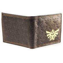 NINTENDO LEGEND OF ZELDA Bifold Wallet with Embossed Link and Gold Foil Logos, Dark Brown (MW150911NTN)