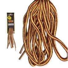 90cm Brown Gold Stripe Worksite Heavy Duty Laces - Boot Shoe Workwear Accessory - Worksite Heavy Duty Laces 90cm Brown Gold Boot Shoe Laces Workwear