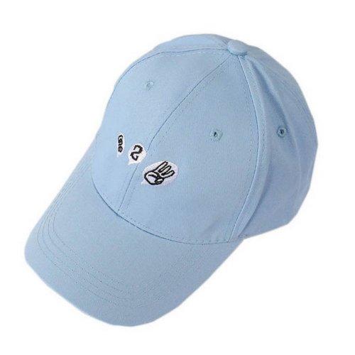 One Two Three Sports Caps Fashion Caps Ladies Baseball Caps Blue