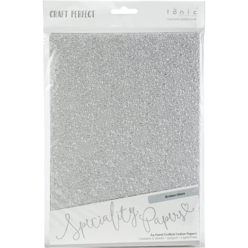 Craft Perfect Handcrafted Cotton Papers A4 5/Pkg-Broken Glass