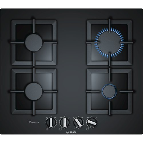 Frameless Premium Black Glass Gas Hob FlameSelect BOSCH PPP6A6B20