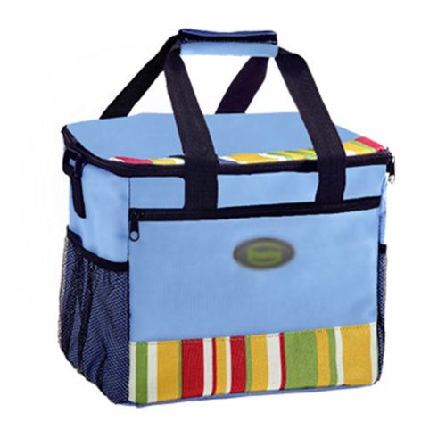 Outdoor Picnic Bag Large Soft Cooler Insulated Picnic Lunch  Bag for Grocery, Camping, Car, #F