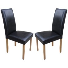 Torino Chairs With Oak Legs | Faux Leather Dining Chairs