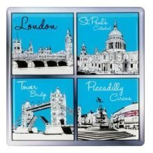 London Sketch Scenes Shopping Bag Souvenir Gift Reusable Piccadilly St Pauls New