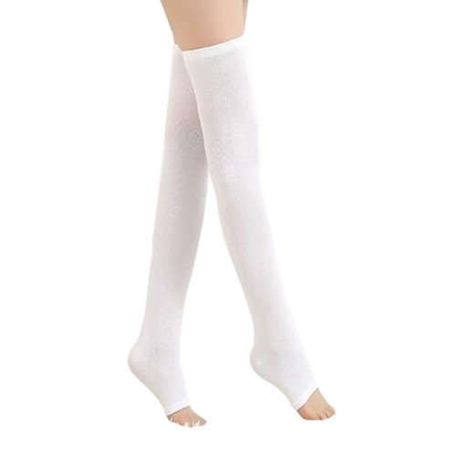 WHITE Fashion Breathable Summer Knee Brace Legs Warmer, One Size