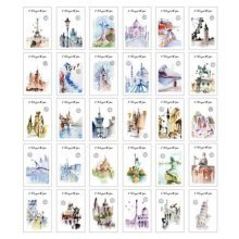 30PCS 1 Set Creative Postcards Artistic Beautiful Postcards, Passed the World