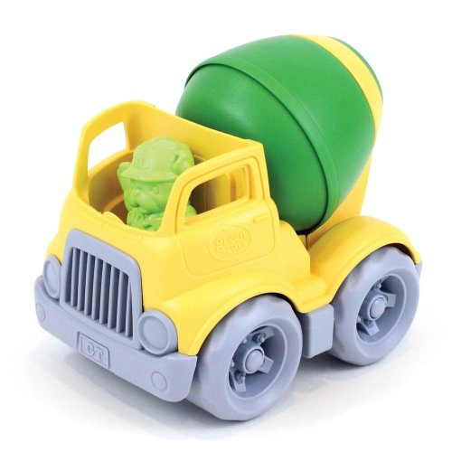 Green Toys Mixer Truck with Revolving Drum and Figure