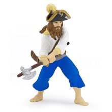 Papo Corsair With Axe Figurine - 39470 Pirate Knights Korsar 8cm Pirates -  papo 39470 pirate corsair knights korsar 8 cm pirates corsairs t24 sailor
