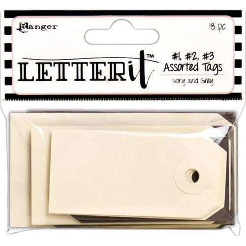Ranger Letter It Tag Assortment 18/Pkg-