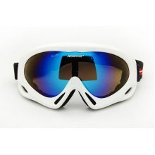 Men/Women's Ski Goggles Colorful Coated Lens Sport Goggles UV-blocking White