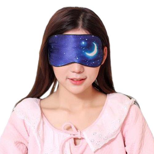 Silk Sleep Mask Breathable Eye Care Comfortable Sleep Mask Eye-shade Aid-sleeping, Starry Sky