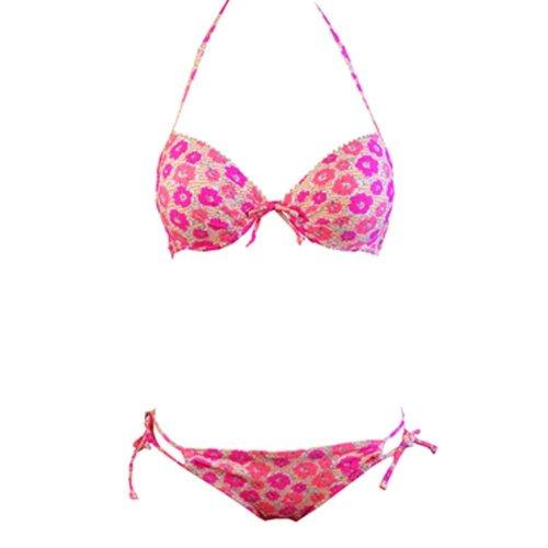 Women Racerback Bikini Set Beach Bathing Suits(Common Size),Red