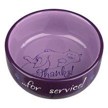 Trixie Ceramic Bowl Thanks For Service, 0.3 L/ø 11cm - Cat 24793 Service Food -  cat ceramic bowl 24793 thanks service food water dish kitten fat