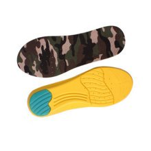 """Camouflage Memory Foam Orthotics Arch Pads Pain Relief Shoe Insoles (M, 10.8"""")"""