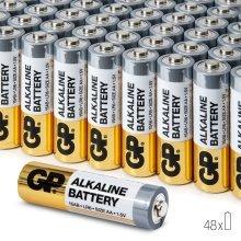 AA Battery GP | High-Performance 1.5V AA Alkaline Batteries (Box of 48)