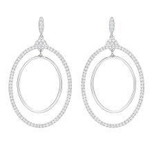 Swarovski Gilberte Hoop Pierced Earrings - White - 5279777