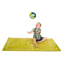 Little Helper 3D Childrens Play Rug in Football Design 100 x 150cm
