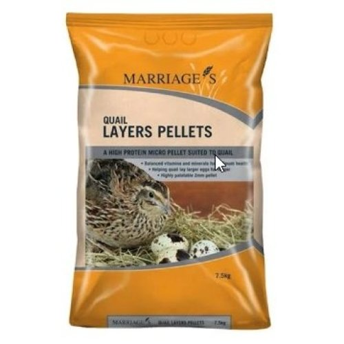 Marriages Specialist Foods Quail Layers Pellets, 7.5kg