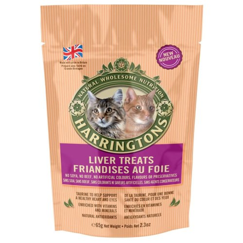 Harringtons Cat Treats With Liver 65g (Pack of 12)