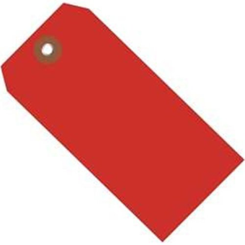 Box Partners G26056 4.75 x 2.38 in. Red Plastic Shipping Tags - Pack of 100