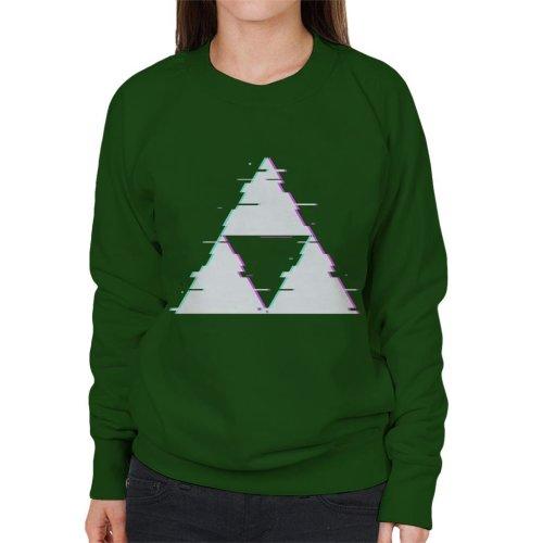 Glitch Triforce Legend Of Zelda Women's Sweatshirt