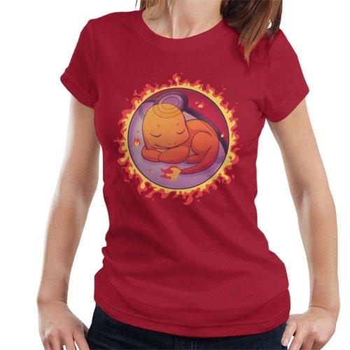 Charmander Hidden Fire Ball Pokemon Women's T-Shirt