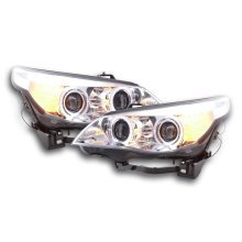 Headlight BMW serie 5 E60/E61 Year 03-07 chrome