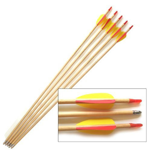 """Wooden Trainer Arrows - 27"""" Long - set of 5"""
