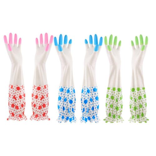 Laundry Gloves Thick Washing Gloves Household Gloves /Set Of  3