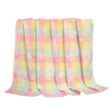 "Baby/Kids Soft Cotton Breathable Bath Towel Newborns Blanket 35.43""x37.4""(Colorful#01)"