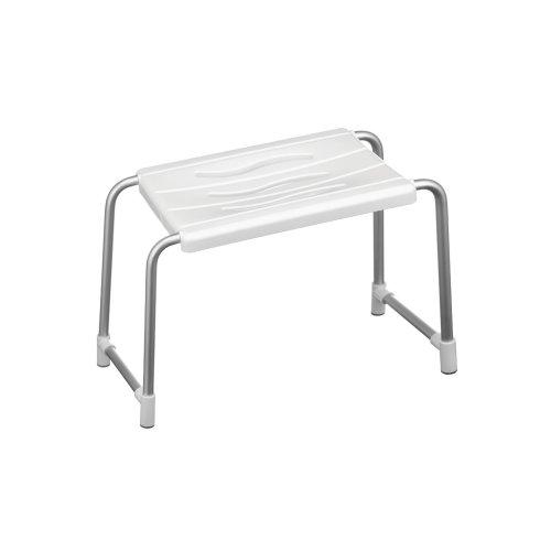 Aluminium Bath Stool - White