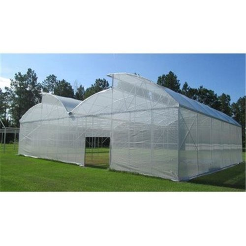 RSI W-SC640-50 White Tropical Weather Shade Clothes with Grommets - 50 PercentageShade Protection, 6 x 40 ft.