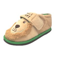 Jungle Safari Lion Slippers in Plush Fabric