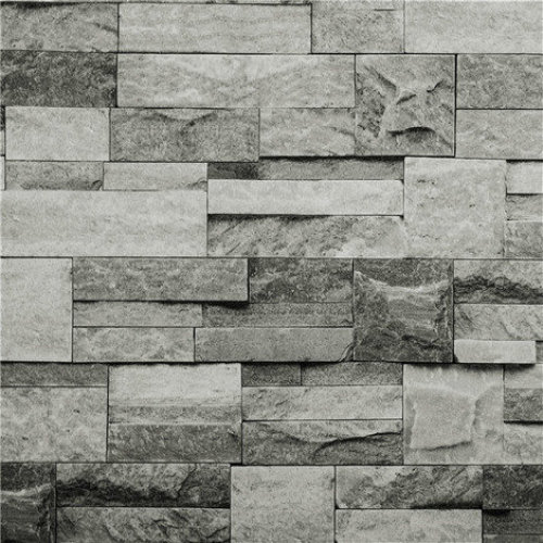 Hyfive Grey 3D Brick Effect Wallpaper | Stone Effect Wallpaper