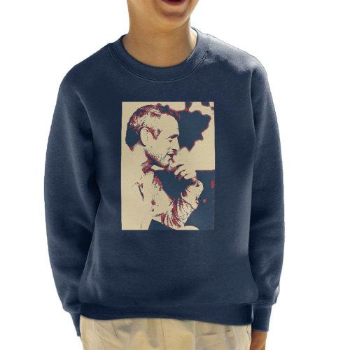 Paul Newman London 1971 Poster Style Kid's Sweatshirt