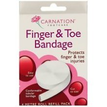 Carnation Finger & Toe Bandage -  finger toe carnation bandage 4m injuries 6 packs tubular refill protects 1 2 3