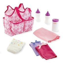 New You & Me Baby Doll Diaper Tote Bag with Accessories