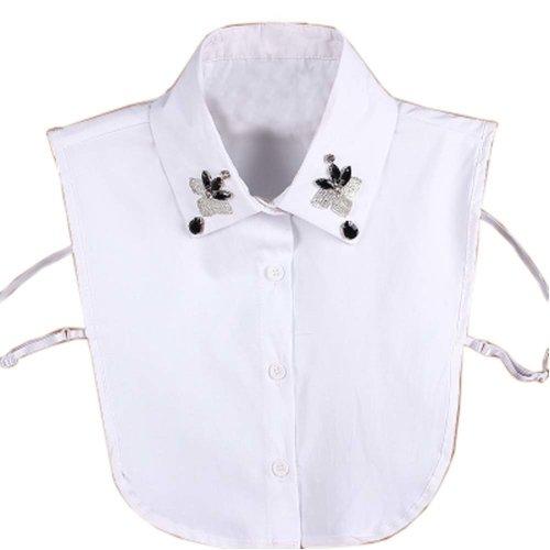 Elegant Women Fake Collar Detachable Dickey Blouse Half Shirts for Sweater, #13