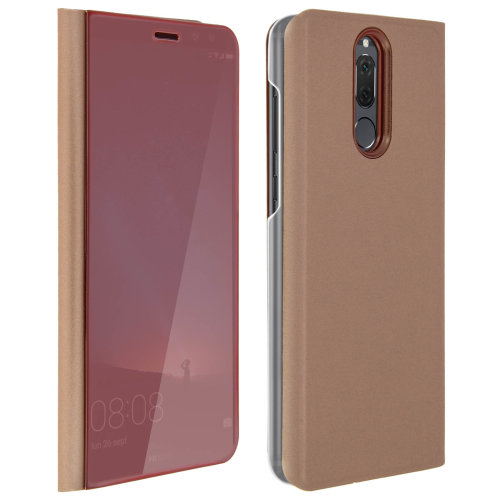 buy popular d7c65 433b1 Flip Case, Mirror Case for Huawei Mate 10 Lite, Standing Cover – Pink