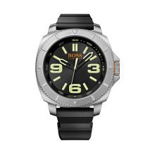 Hugo Boss Orange 1513107  Men's Silver Steel Case Black Strap Watch