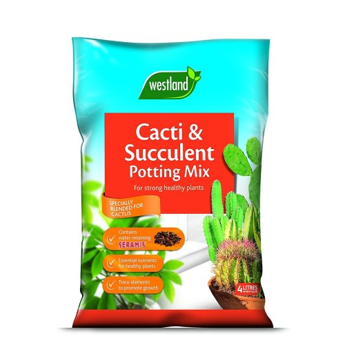 Westland Cacti & Succulent Compost Mix and Enriched with Seramis, 4 L