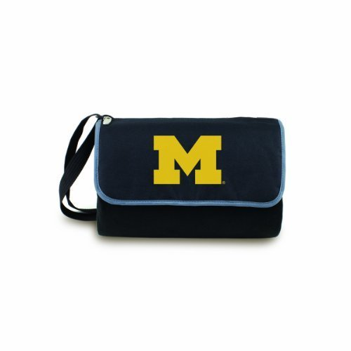 NCAA Michigan Wolverines Outdoor Picnic Blanket Tote, Black
