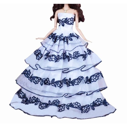 New Decent Beautiful Wedding Dress Skirt For 11.81-inch Doll-04