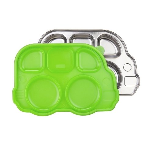 Innobaby - Stainless Steel Bus Platter with Lid - Green